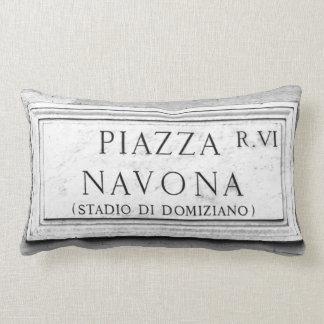 Rome, Italy - Piazza Navona Lumbar Cushion