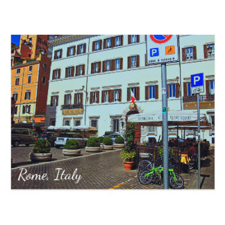 Rome Italy Piazza Postcard