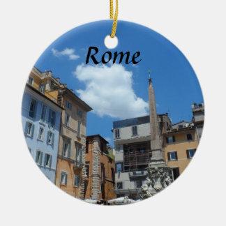Rome, Italy Round Ceramic Decoration