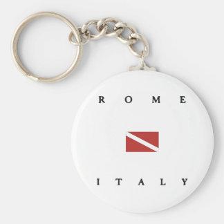 Rome Italy Scuba Dive Flag Basic Round Button Key Ring