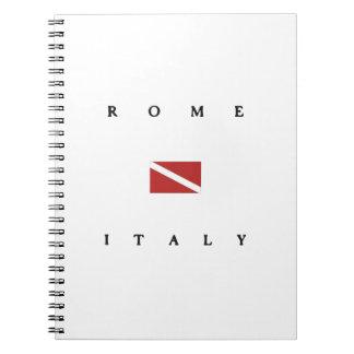 Rome Italy Scuba Dive Flag Spiral Note Books