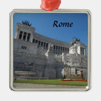 Rome, Italy Silver-Colored Square Decoration