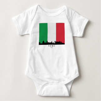 Rome Italy Skyline Italian Flag Baby Bodysuit