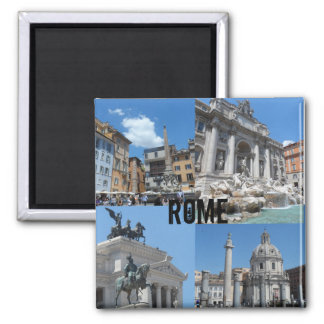 Rome, Italy Square Magnet