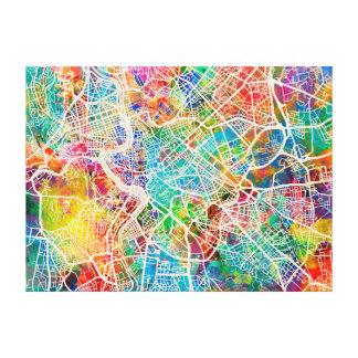 Rome Italy Street Map Canvas Print