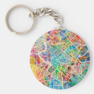 Rome Italy Street Map Key Chains