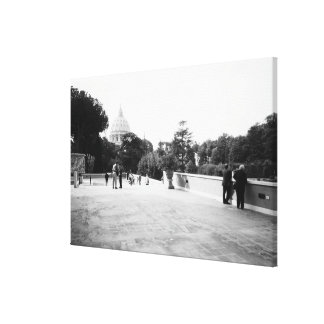 Rome Italy, The Vatican Gardens Stretched Canvas Print