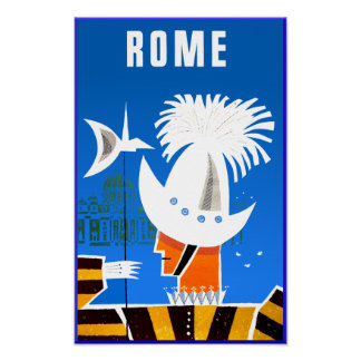 Rome, Italy travel poster