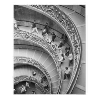 Rome Italy, Vatican Staircase 3 Poster
