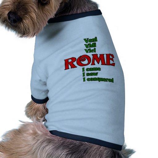 Rome Italy Veni Vidi Vici Pet Clothing