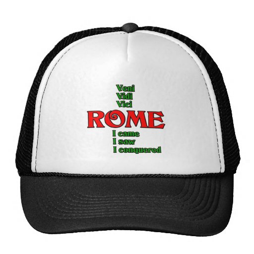 Rome Italy Veni Vidi Vici Hat
