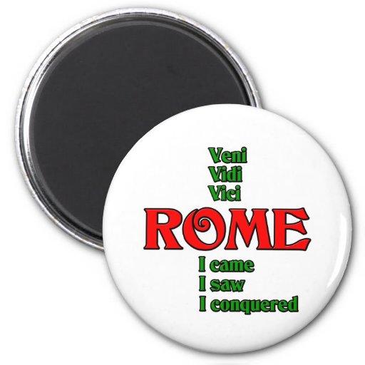 Rome Italy Veni Vidi Vici Refrigerator Magnets