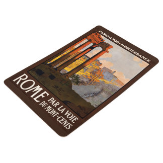 Rome Italy vintage travel floor mat