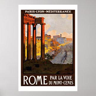 Rome Italy Vintage Travel Print