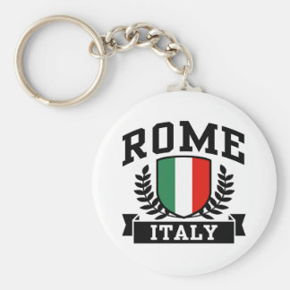 Rome Basic Round Button Key Ring