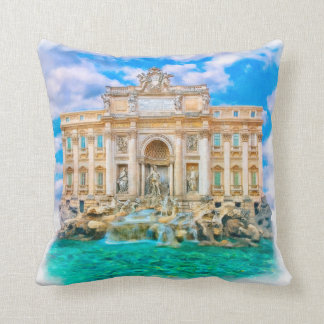 Rome - La Dolce Vita - Trevi Fountain Cushion