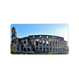 Rome label address label