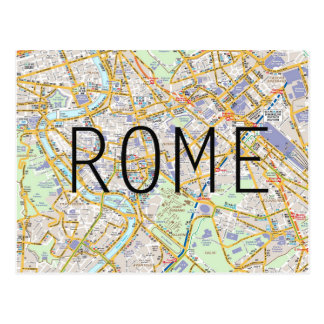 Rome map card