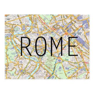 Rome map card postcard
