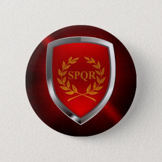 Rome Mettalic Emblem 6 Cm Round Badge