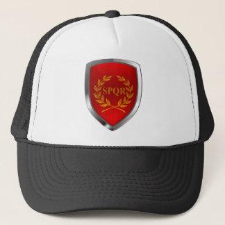 Rome Mettalic Emblem Trucker Hat
