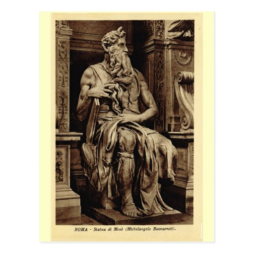 Rome, Moses, by Michelangelo Post Card
