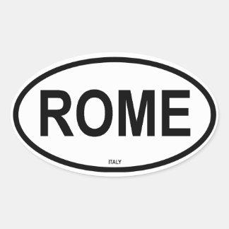 ROME OVAL STICKER