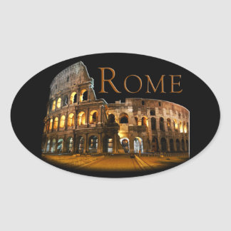 Rome Oval Sticker