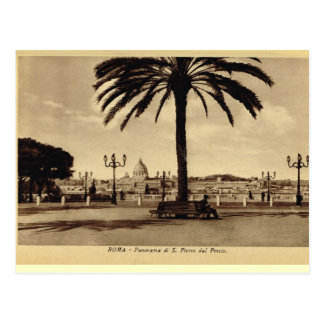 Rome, Panorama with St Peter's Postcard