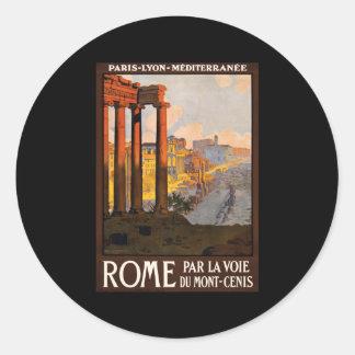 Rome par la voie du Mont-Cenis Classic Round Sticker