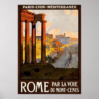 ROME PAR LA VOIE DUMONT-CENIS POSTER