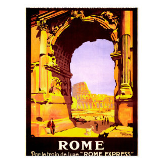 "Rome, par le train de luxe ""Rome Express"" Postcard"