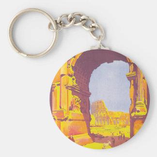 Rome par le train deluxe basic round button key ring