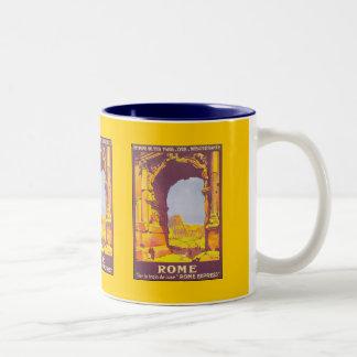 Rome par le train deluxe Two-Tone coffee mug