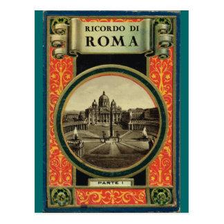 Rome, Postcard book cover  1900