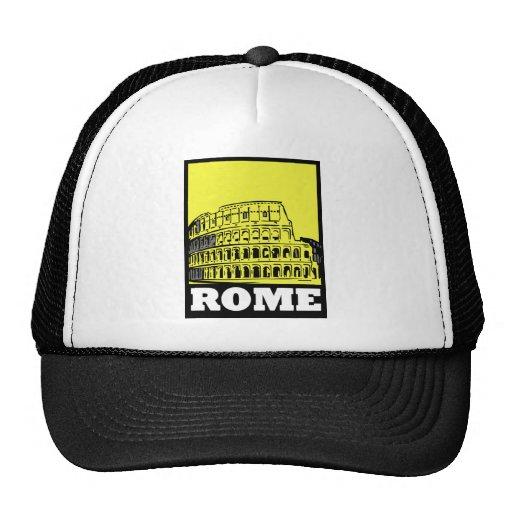 Rome Postcard Design Mesh Hat