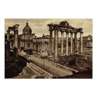 Rome,Road through the Forum Poster