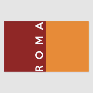 rome roma city flag italy country text name rectangular sticker