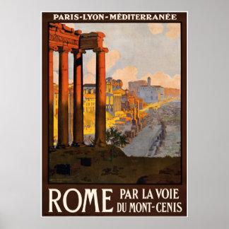 Rome Roma Vintage Travel Poster