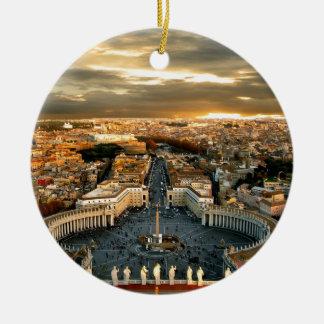 Rome Round Ceramic Decoration