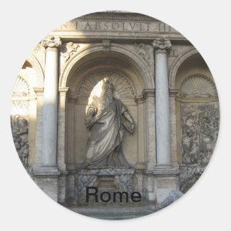 Rome Round Sticker