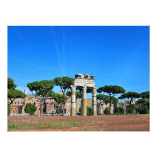 Rome ruins personalized announcement
