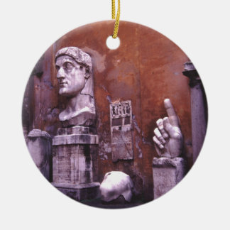 Rome Sculpted Body Parts Round Ceramic Decoration