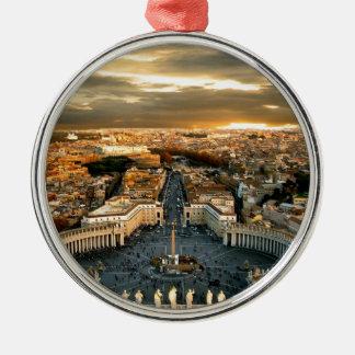 Rome Silver-Colored Round Decoration