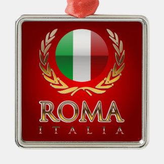 Rome Silver-Colored Square Decoration