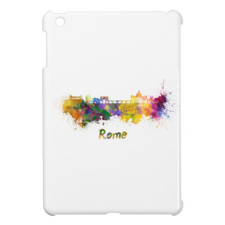 Rome skyline in watercolor case for the iPad mini