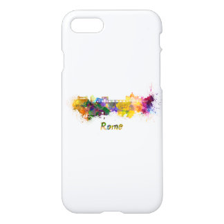 Rome skyline in watercolor iPhone 8/7 case