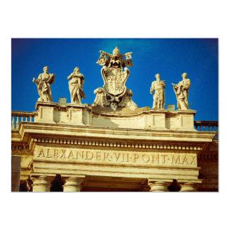Rome statues 17 cm x 22 cm invitation card