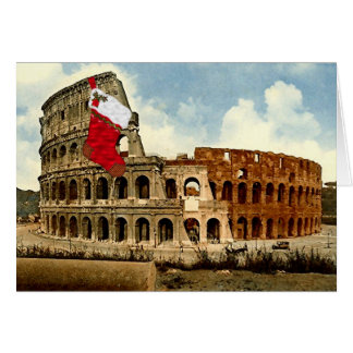 Rome, The Colosseum Christmas Card (Large Picture)