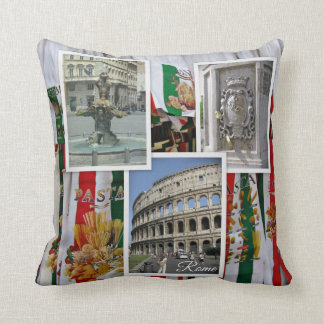 Rome The Eternal City Collage Cushion